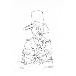 Armin Mueller-Stahl Kunst Bild kaufen Jazz-Perkussionist   handsigniertes Original
