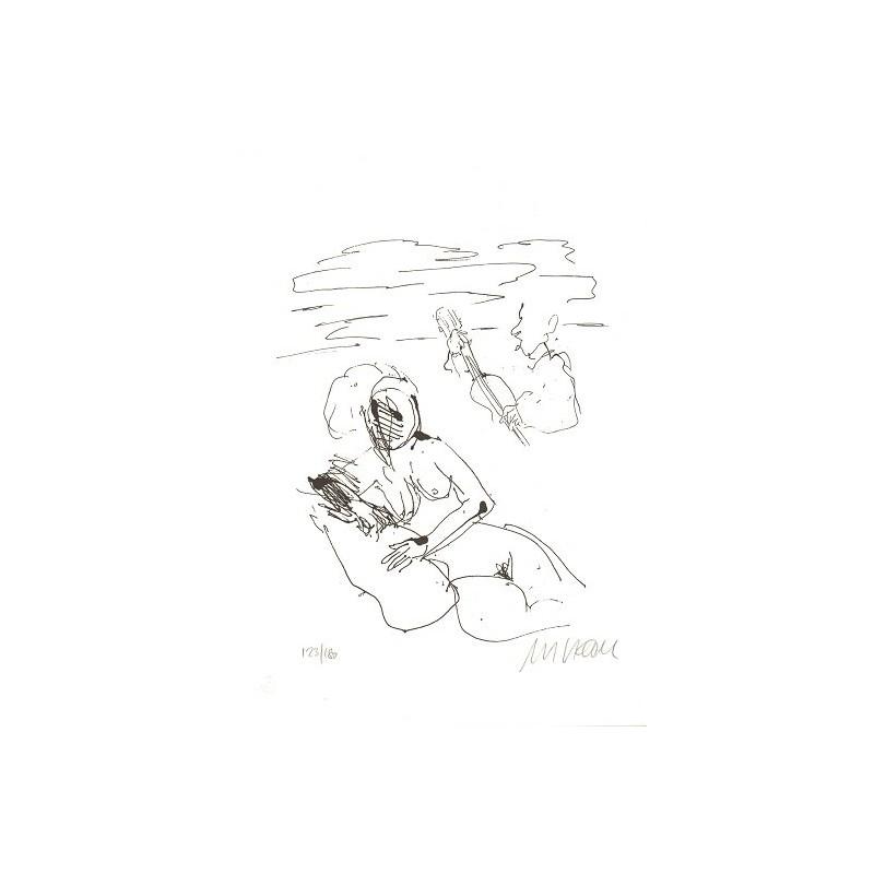 Armin Mueller-Stahl Kunst Bild kaufen Strandsonate | handsigniertes Original