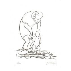 Armin Mueller-Stahl Kunst Bild kaufen Am Meer | handsigniertes Original