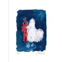 Armin Mueller-Stahl Kunst Bild kaufen Hochzeitspaar   handsigniertes Original