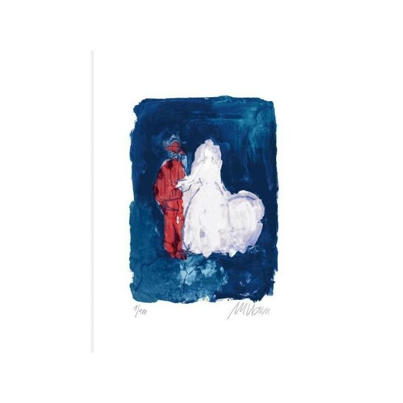 Armin Mueller-Stahl Kunst Bild kaufen Hochzeitspaar | handsigniertes Original