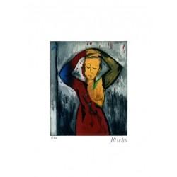 Armin Mueller-Stahl Kunst Bild kaufen Vor dem Spiegel   handsigniertes Original
