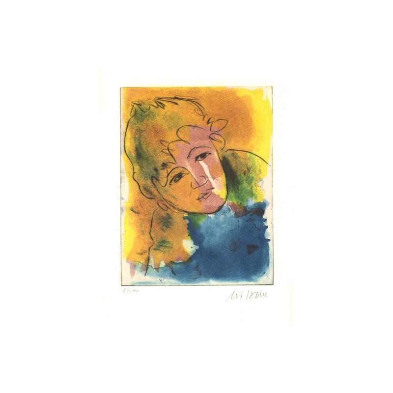 Armin Mueller-Stahl Kunst Bild kaufen Strandkind | handsigniertes Original