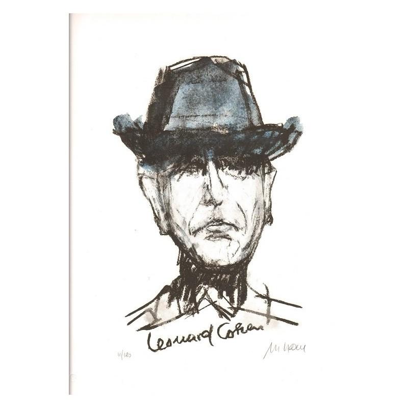 Armin Mueller-Stahl * Leonard Cohen - I'm your man handsigniertes Original Kunst Bild kaufen