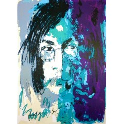 Armin Mueller-Stahl Kunst Bild kaufen Tribute to John Lennon blau/violett   handsigniertes Original