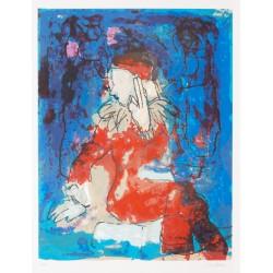 Armin Mueller-Stahl Kunst Bild kaufen Melancholie des Bajazzo   handsigniertes Original