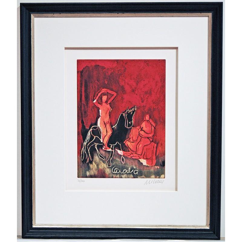 Armin Mueller-Stahl * Cavalia im Rahmen Classic Schwarz mit Silberkante Original Bild mit Rahmen kaufen