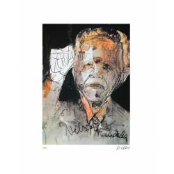 Armin Mueller-Stahl * Nelson Mandela - The Power of One handsigniertes Original Kunst Bild kaufen