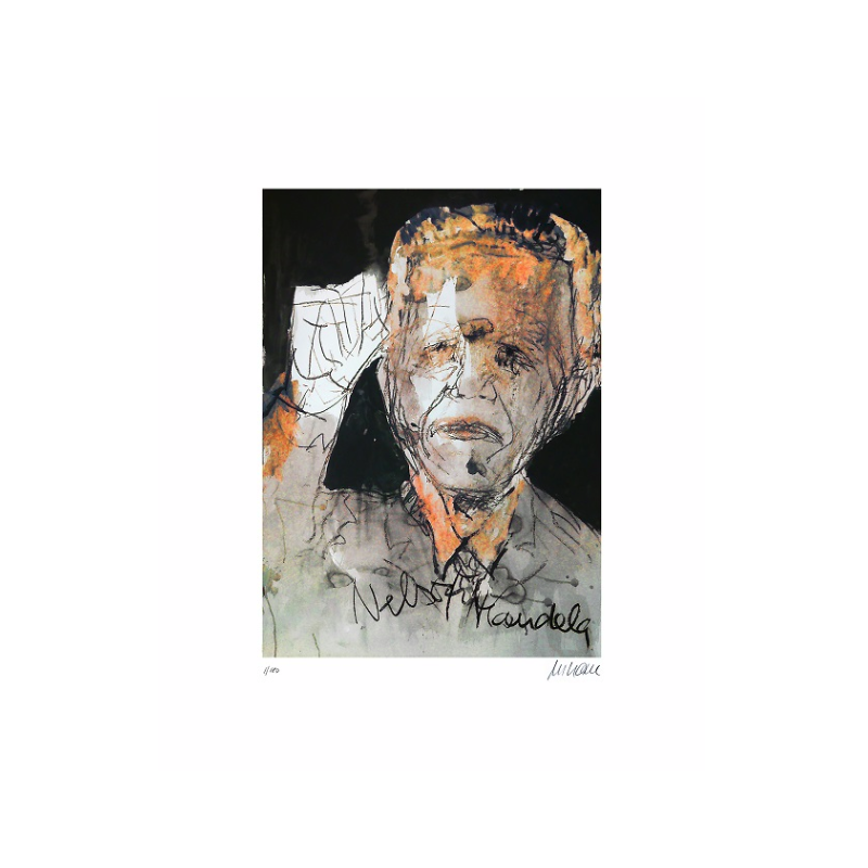 Armin Mueller-Stahl * Nelson Mandela - The Power of One handsigniertes Original Kunst Bild kaufen