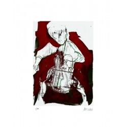 Armin Mueller-Stahl Kunst Bild kaufen Cellospieler   handsigniertes Original