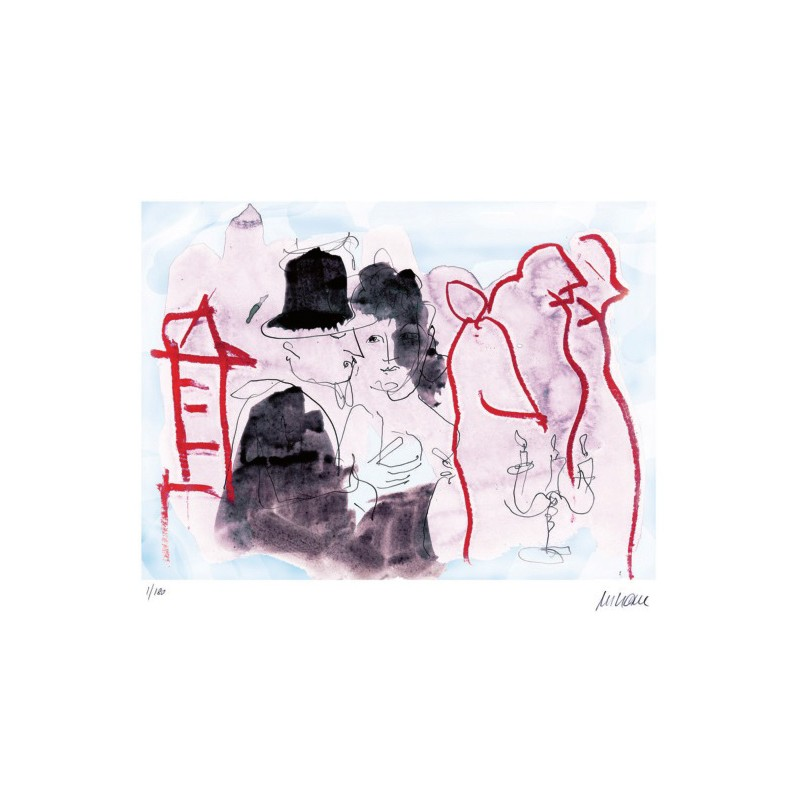Armin Mueller-Stahl Kunst Bild kaufen Die Buddenbrooks - Zur späten Stunde | handsigniertes Original