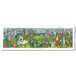 "James Rizzi 3D Bild Original drucksigniert ""We love to drive, pitch, lob, chip and putt"""