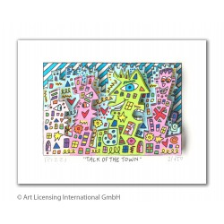James Rizzi - Talk of the town - 3D Original drucksigniertes Bild kaufen