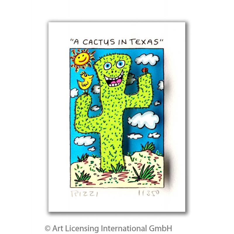 James Rizzi - A Cactus in Texas - Originale 3D Bilder kaufen