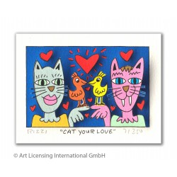 "James Rizzi 3D Bild ""Cat your Love"" kaufen"