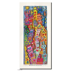 "Original 3D Bild kaufen James Rizzi ""Borderless Building"