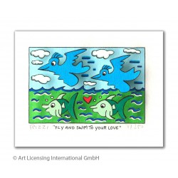 "James Rizzi ""Fly and swim to your love"" 3D Bild kaufen"