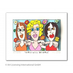 James Rizzi - Girls will be girls - Original 3D Bild kaufen