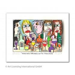 "3D Bild Original James Rizzi ""Having Drinks with Friends"" kaufen"