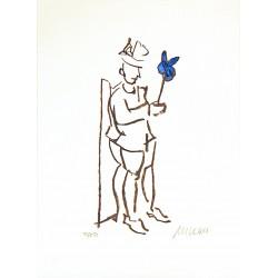 """Armin Mueller Stahl Original Bilder kaufen """"Kompliment blau"""""""