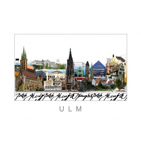 "Original Leslie Hunt CityPrint ""Ulm"" Bild"