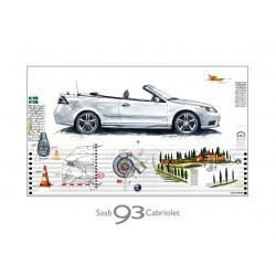 "Leslie G. Hunt Original Bild kaufen ""Saab 93 Cabriolet"""
