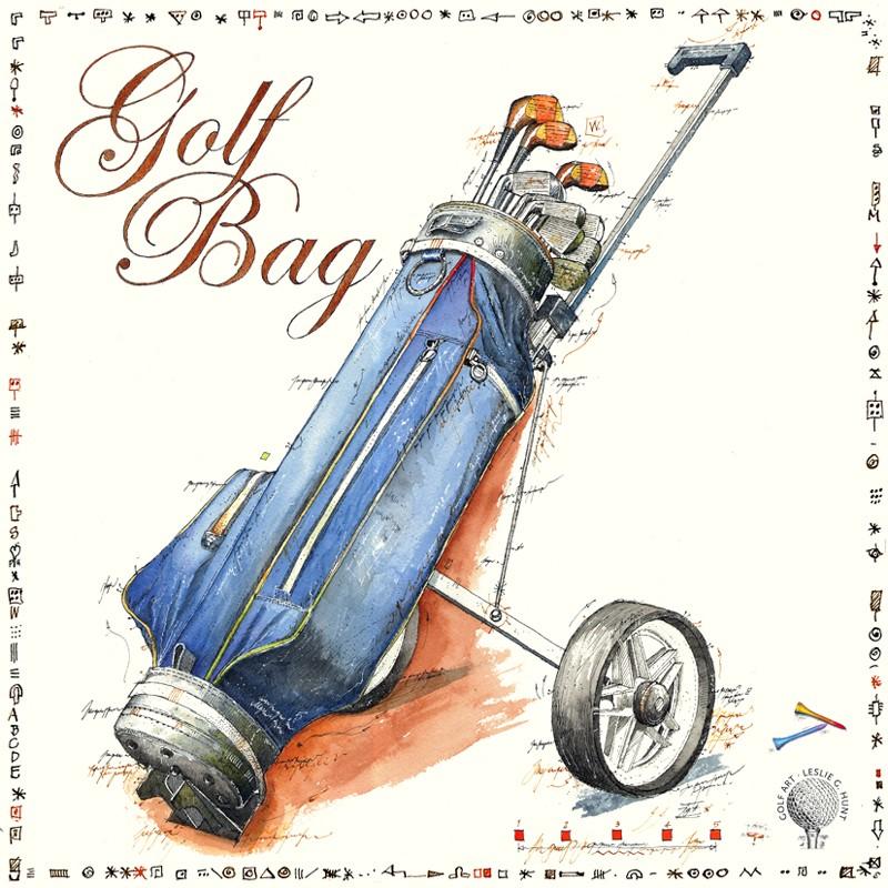 """Original Bild """"Golf Bag"""" von Leslie G. Hunt kaufen"""