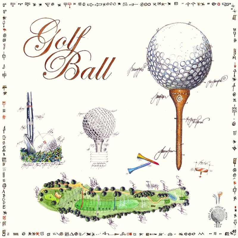 "Leslie G. Hunt Original Bild ""Golf Ball"" kaufen"