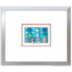 James Rizzi Bilder -Birds in the Sky- im Rahmen kaufen