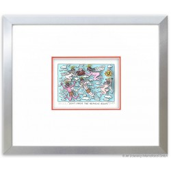 "James Rizzi ""Sent from the heaven above"" Original 3D Bild kaufen Rahmenbeispiel Alu-Seidenmatt"