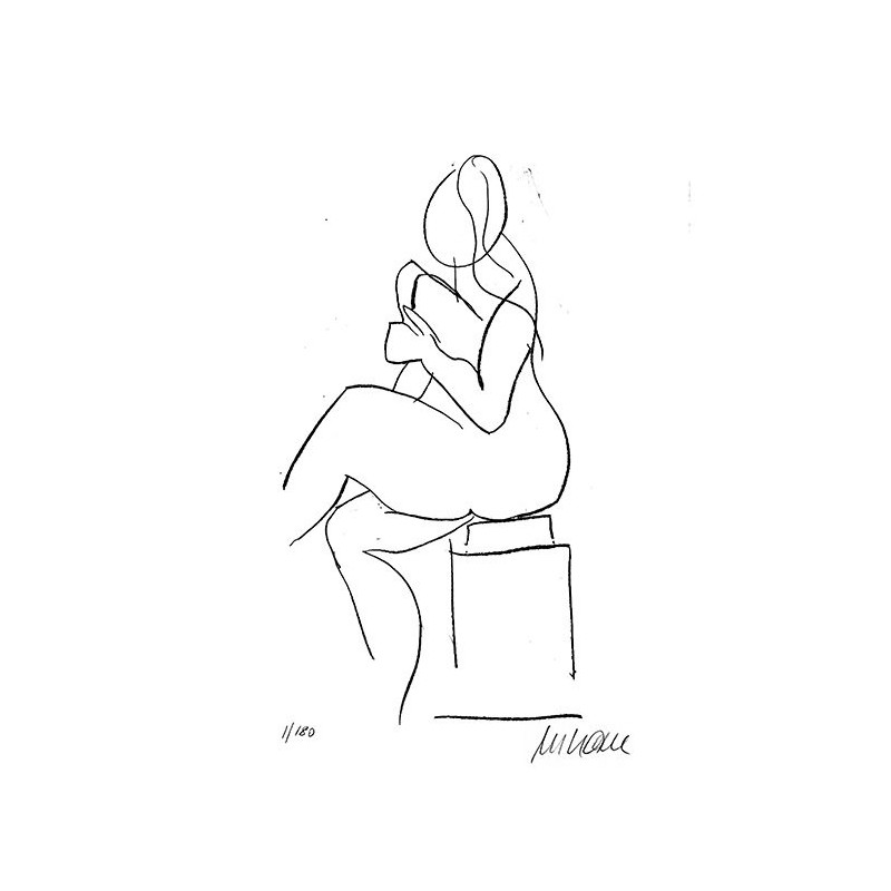 """Armin Mueller-Stahl """"Sitzende"""" Original Bilder kaufen"""