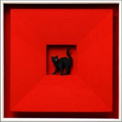 "Volker Kühn ""Cat in Red"" 3D Objekt Original Bilder kaufen"