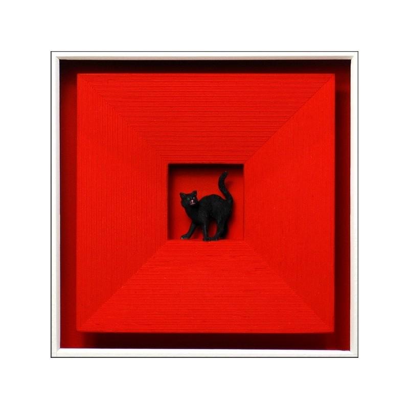 "Volker Kühn ""Cat in Red"" 3D Objekt Original Bilder kaufen"