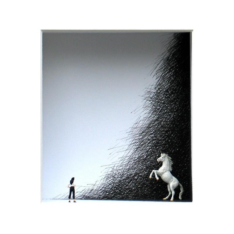 "Volker Kühn ""In the Black Corner"" 3D Objekt Original Bilder kaufen"