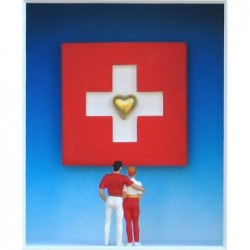 "Volker Kühn ""We love Switzerland"" 3D Objekt Original Bilder kaufen"