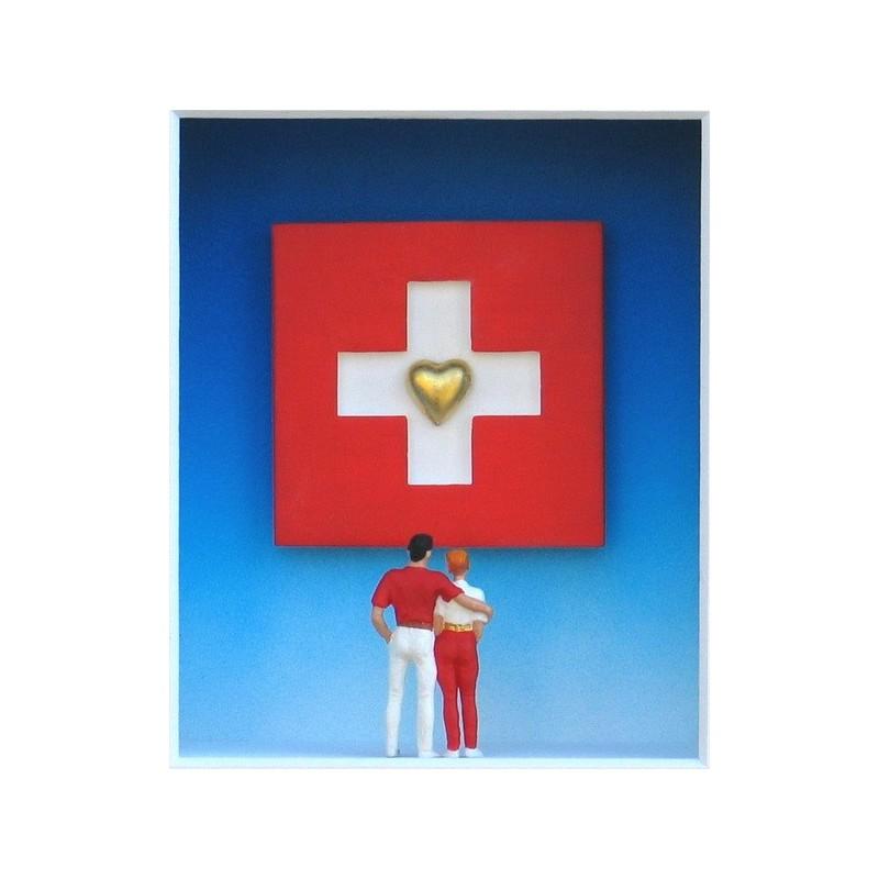 """Volker Kühn """"We love Switzerland"""" 3D Objekt Original Bilder kaufen"""