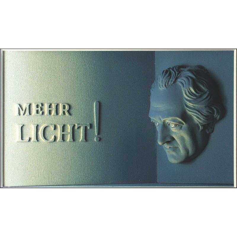 """Volker Kühn """"Mehr Licht!"""" 3D Objekt Original Bilder kaufen"""