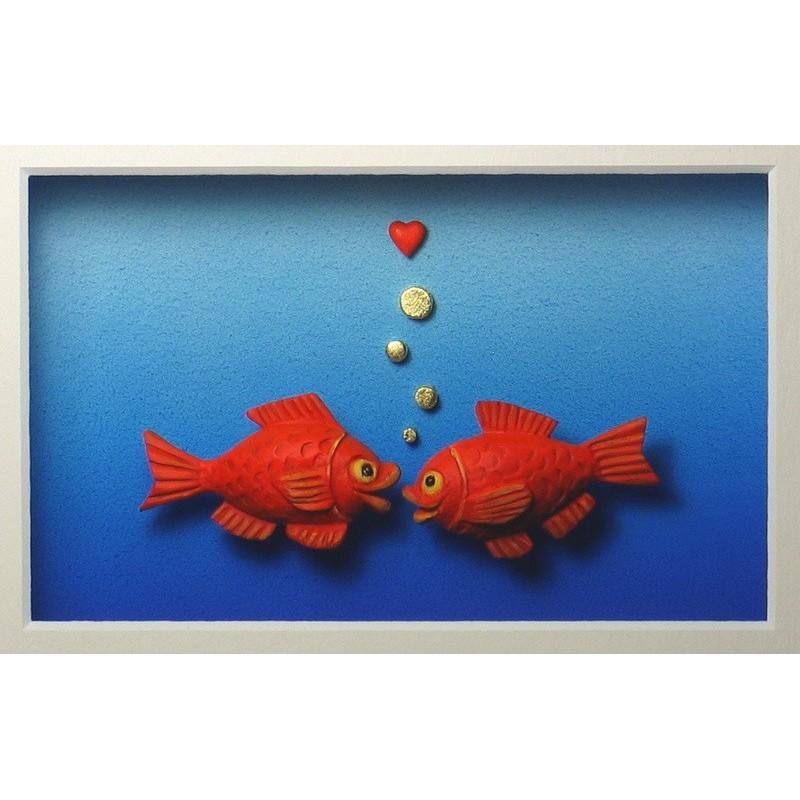 """Volker Kühn """"Fische"""" 3D Objekt Original Bilder kaufen"""