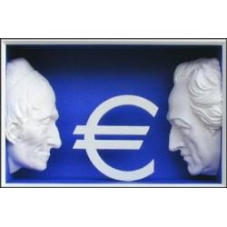 "Volker Kühn ""Drei große Europäer"" 3D Objekt Original Bilder kaufen"