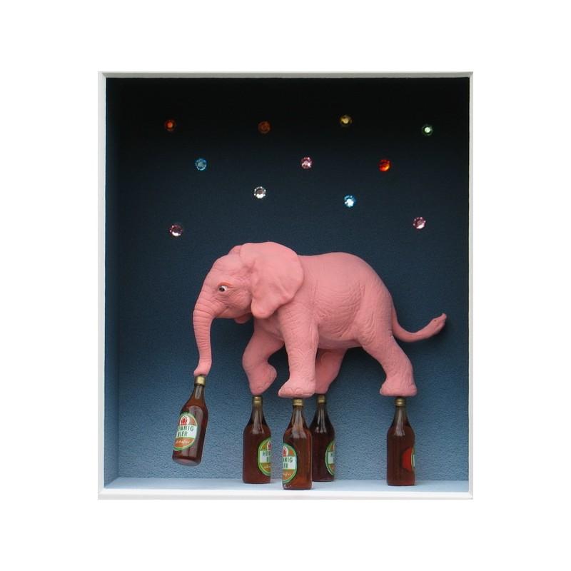 "Volker Kühn ""Pink Elephant"" 3D Objekt Original Bilder kaufen"
