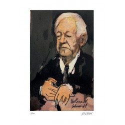 Armin Mueller-Stahl Kunst Bild kaufen Helmut Schmidt | handsigniertes Original