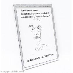 Armin Mueller-Stahl Originale Rahmen Holzrahmen Silber mit Schwarzdurchrieb am Beispiel Thomas Mann