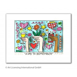 "James Rizzi ""A Day to Remember"" Original 3D-Bild mit Passepartout kaufen"