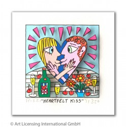"James Rizzi 3D Bilder ""Heartfelt Kiss"" kaufen"