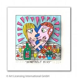 """James Rizzi 3D Bilder """"Heartfelt Kiss"""" kaufen"""