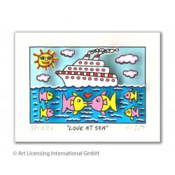James Rizzi 3D Bild Motiv: Love at Sea mit oder ohne Rahmen guenstig kaufen