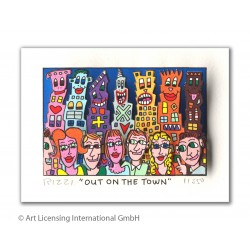 James Rizzi Out on the town Original 3D Grafik Bild von James Rizzi kaufen
