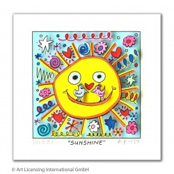 "James Rizzi ""Sunshine"" Original 3D Kunst Bild kaufen"
