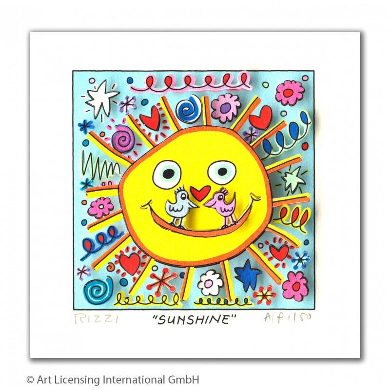 "James Rizzi ""Sunshine"" Original 3D Kunst Bild kaufen"