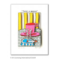 "James Rizzi Bild ""Take a break"" kaufen"